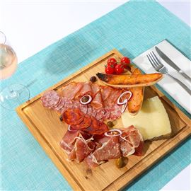 Selection of iberic cold cuts